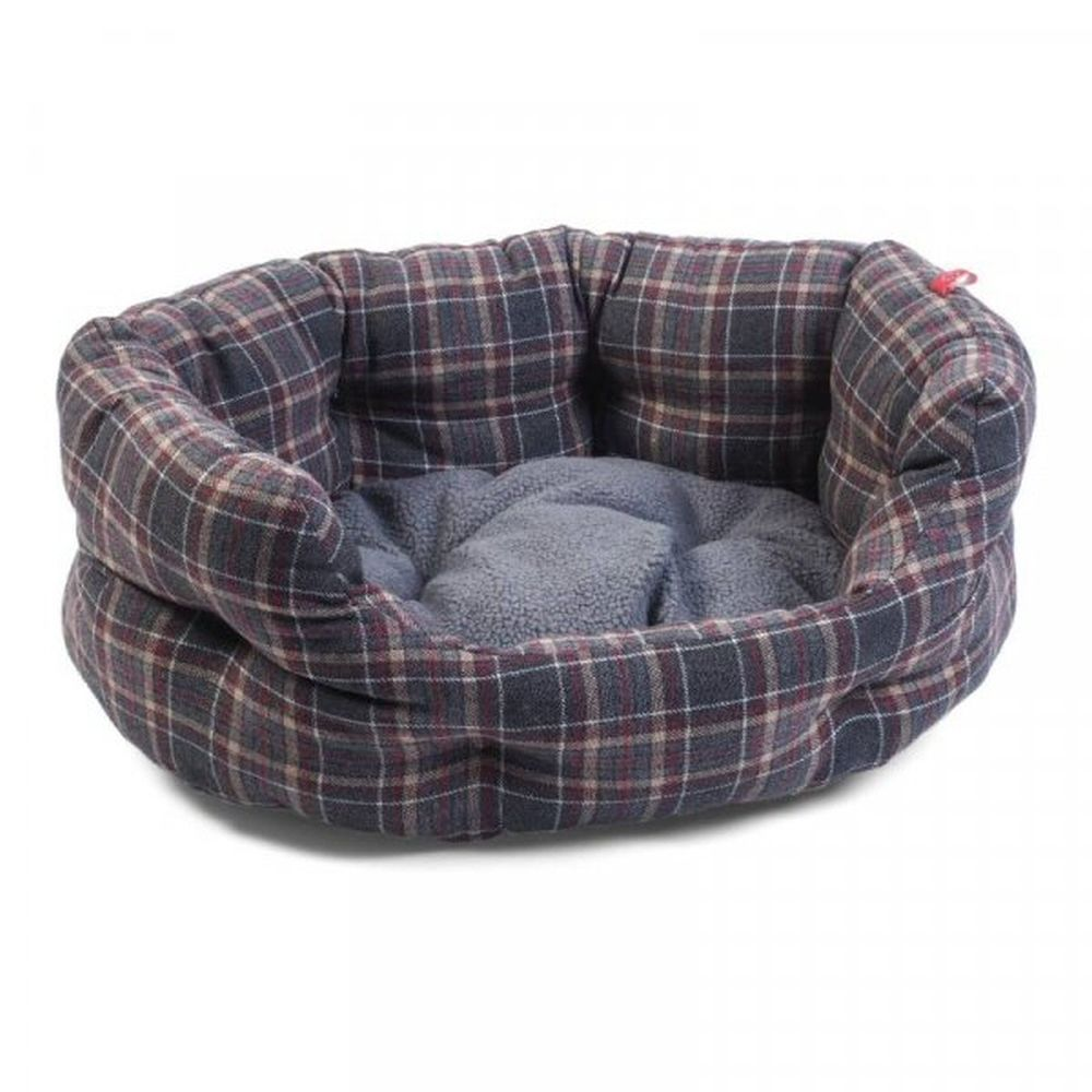 Zoon Oval Plaid Bed - Large