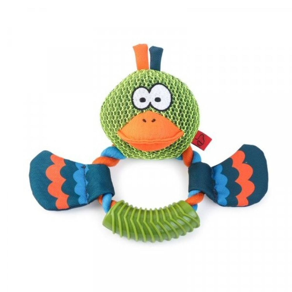 Zoon Dura Ring Dog Toy - Duck