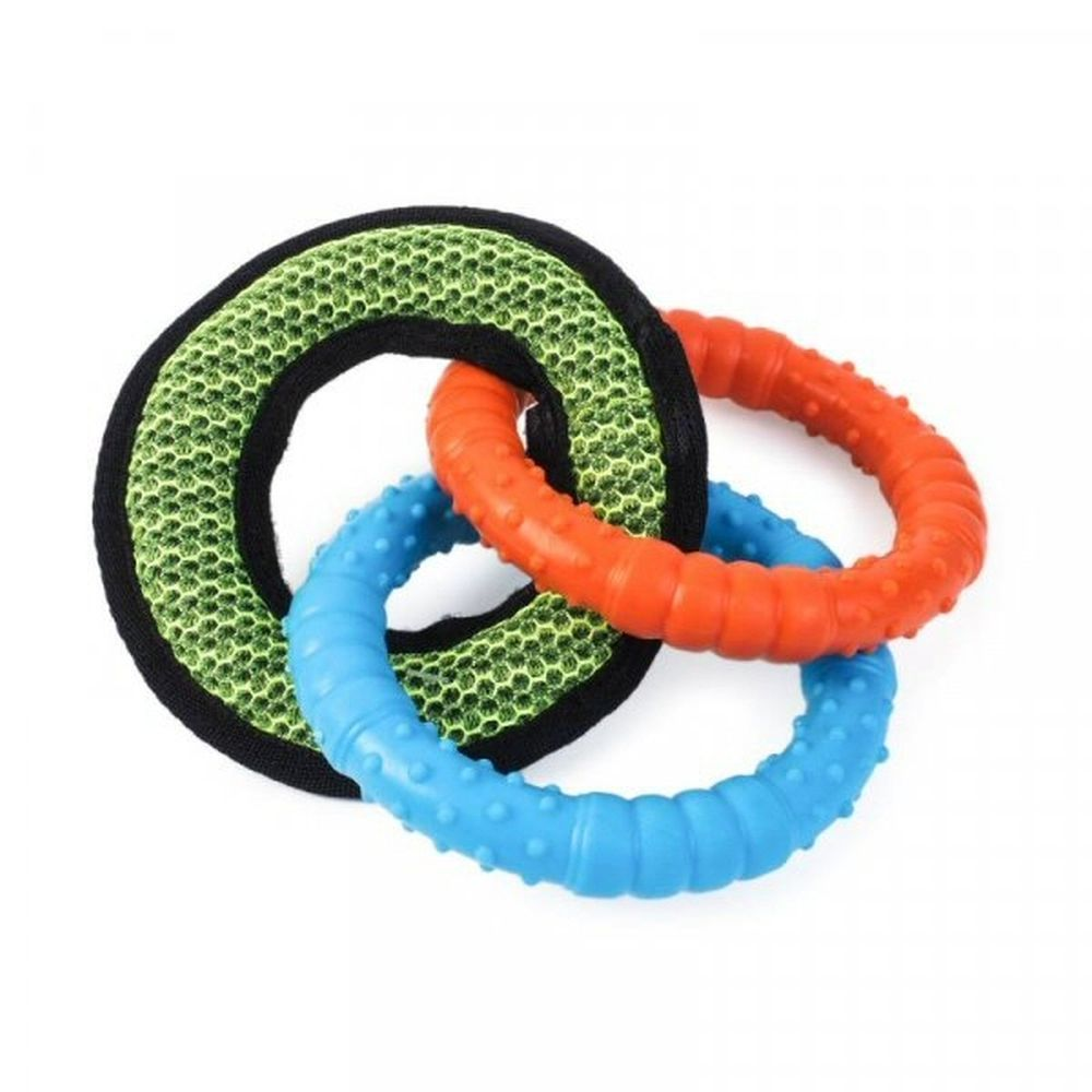 Zoon Dura Tri Ring Dog Toy