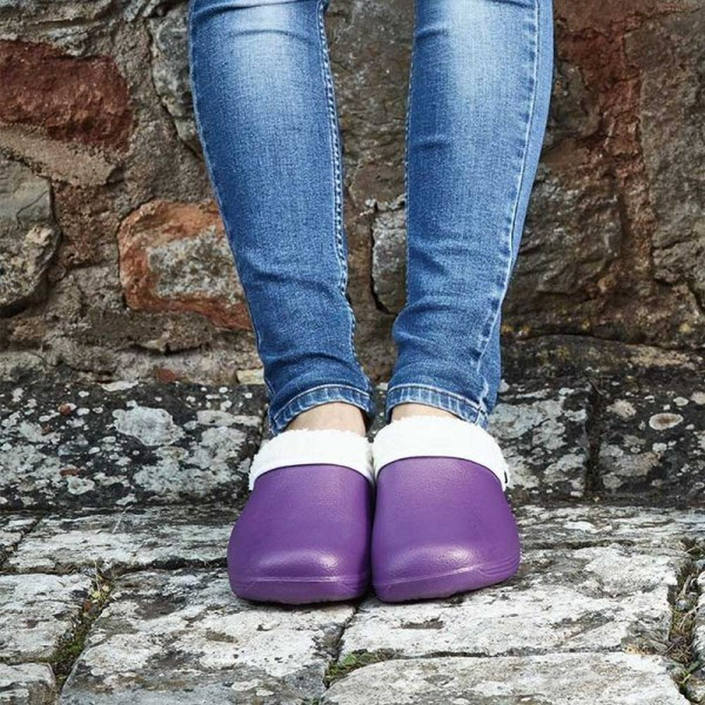 Briers Lilac Thermal Clogs - Size 4