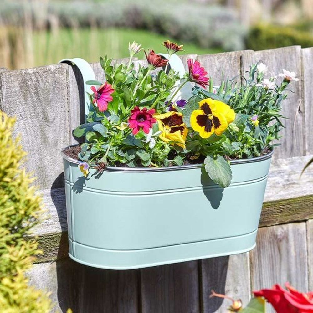 "Smart Garden 12"" Sage Fence & Balcony Hanging Planter"