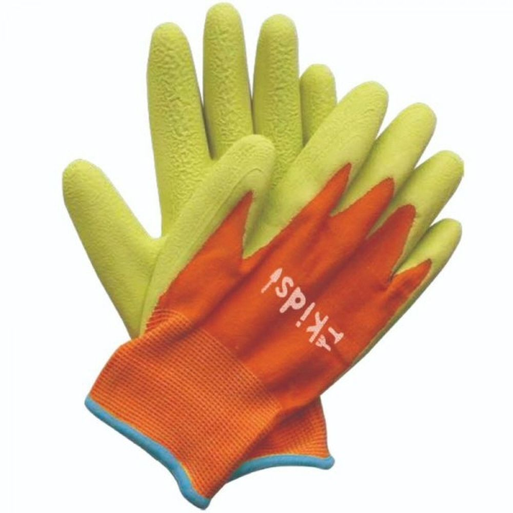 Briers Kids! Junior Diggers Orange & Green Gloves 6-10 Yrs