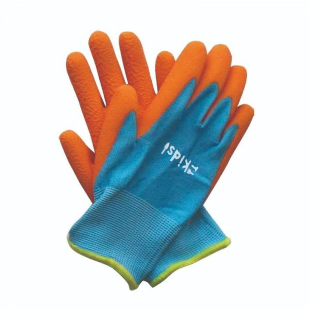 Briers Kids! Junior Diggers Orange & Blue Gloves 6-10 Yrs
