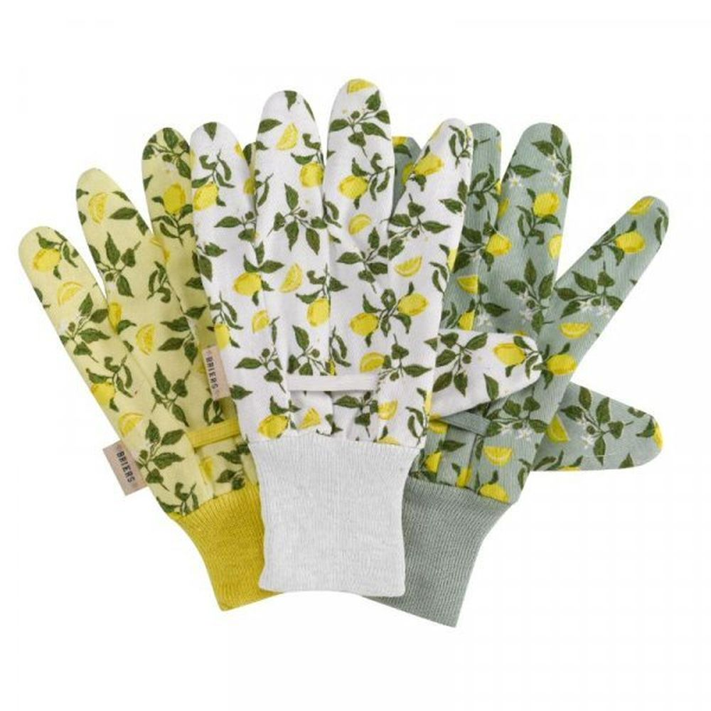 Briers Sicilian Lemon Cotton Grips Triple Pack