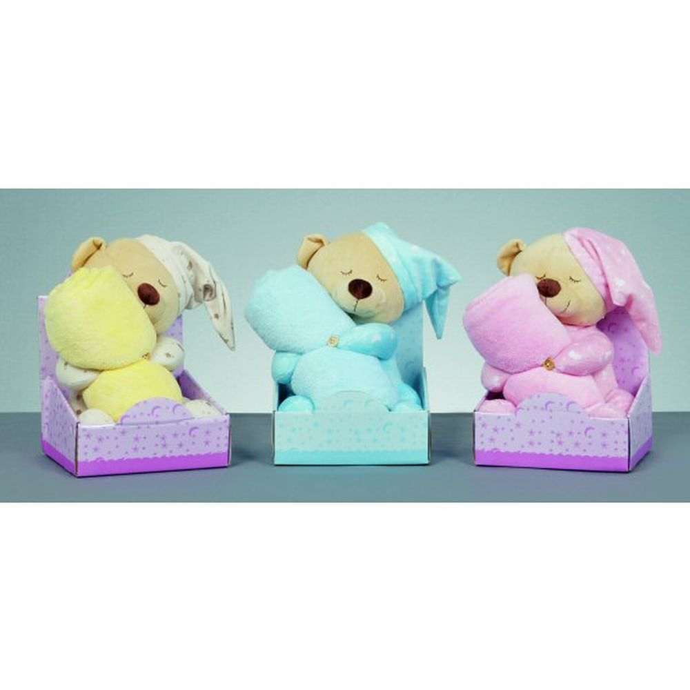 Premier 26cm Bedtime Bear with Blanket (Choice of 3)
