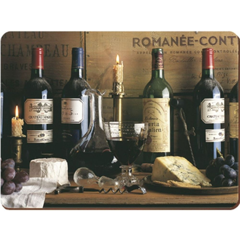 Creative Tops Pack of 6 Vintage Wine Premium Placemats