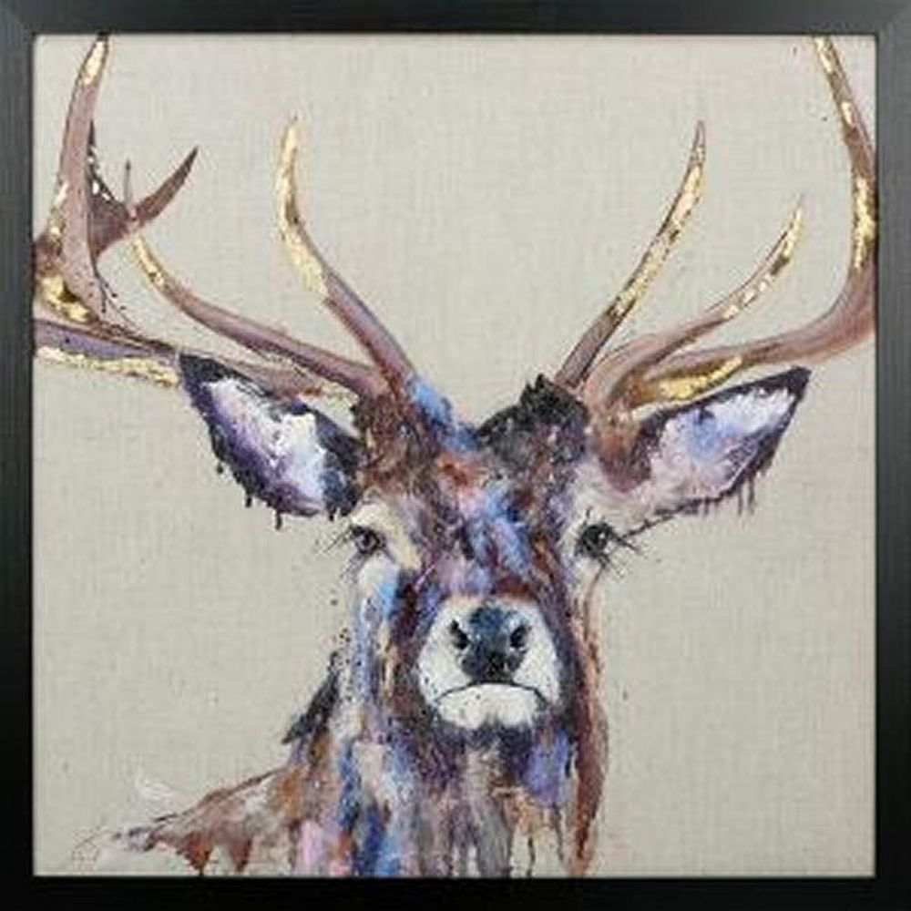 Artko 74.5cm 'Majesty' Framed Embellished Print by Louise Luton