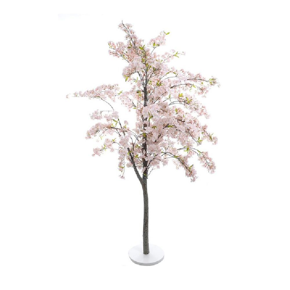 Silk Flowers Pink Blossom Tree On Base 1.8m