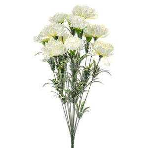 48cm Cream Floral Carnation Bush