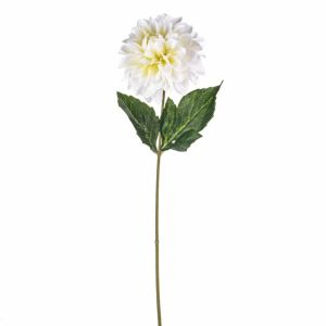 46cm Artificial Cream Fiesta Dahlia Stem