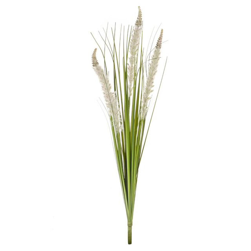 80cm Artificial Grass & Cream Cattail Spray