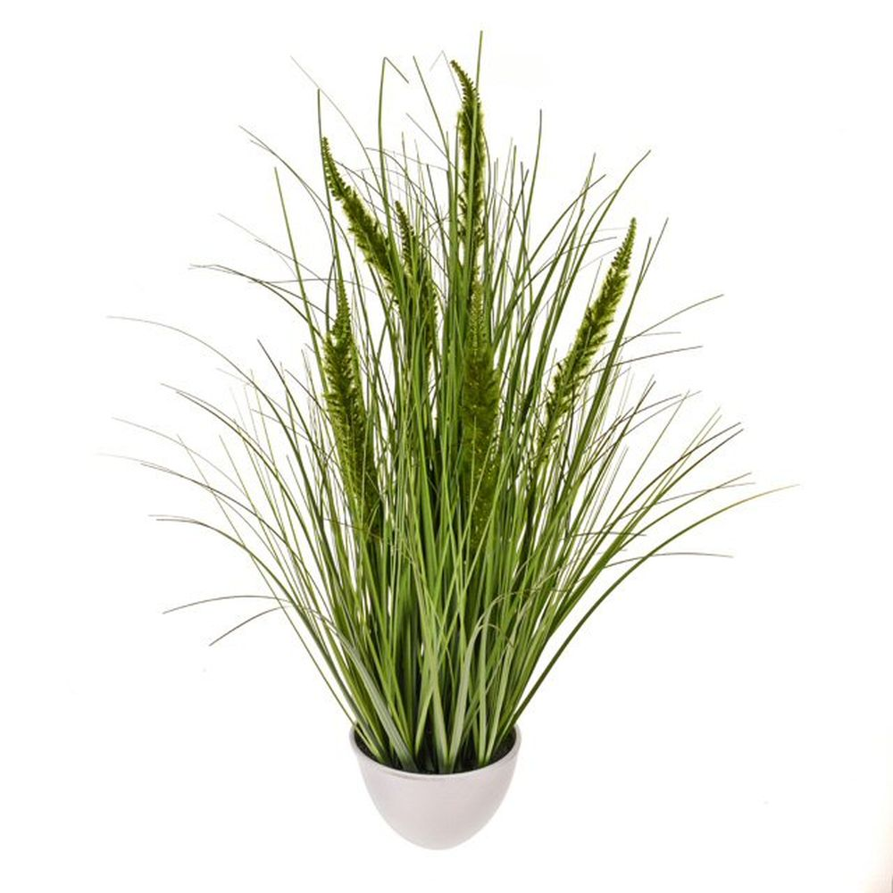 84cm Artificial Green Potted Cattail Grass
