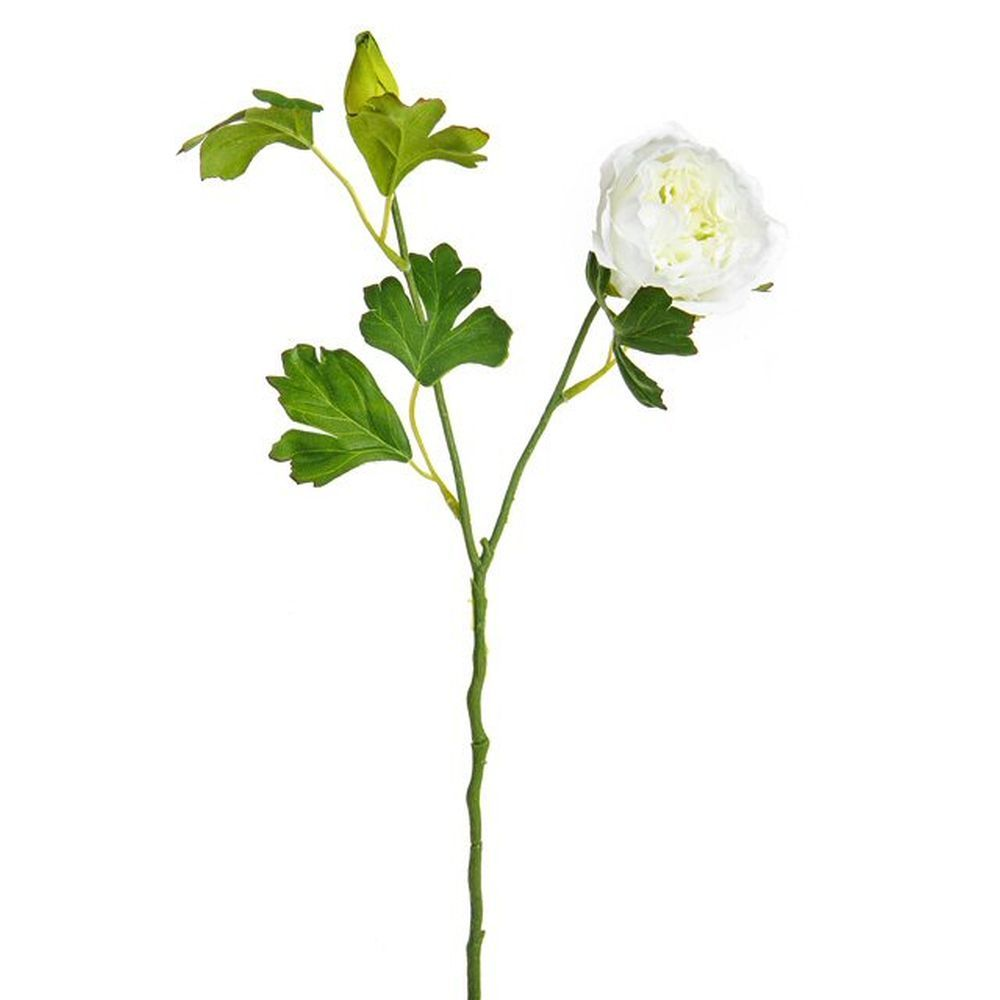 42cm Artificial Cream Ranunculus Spray