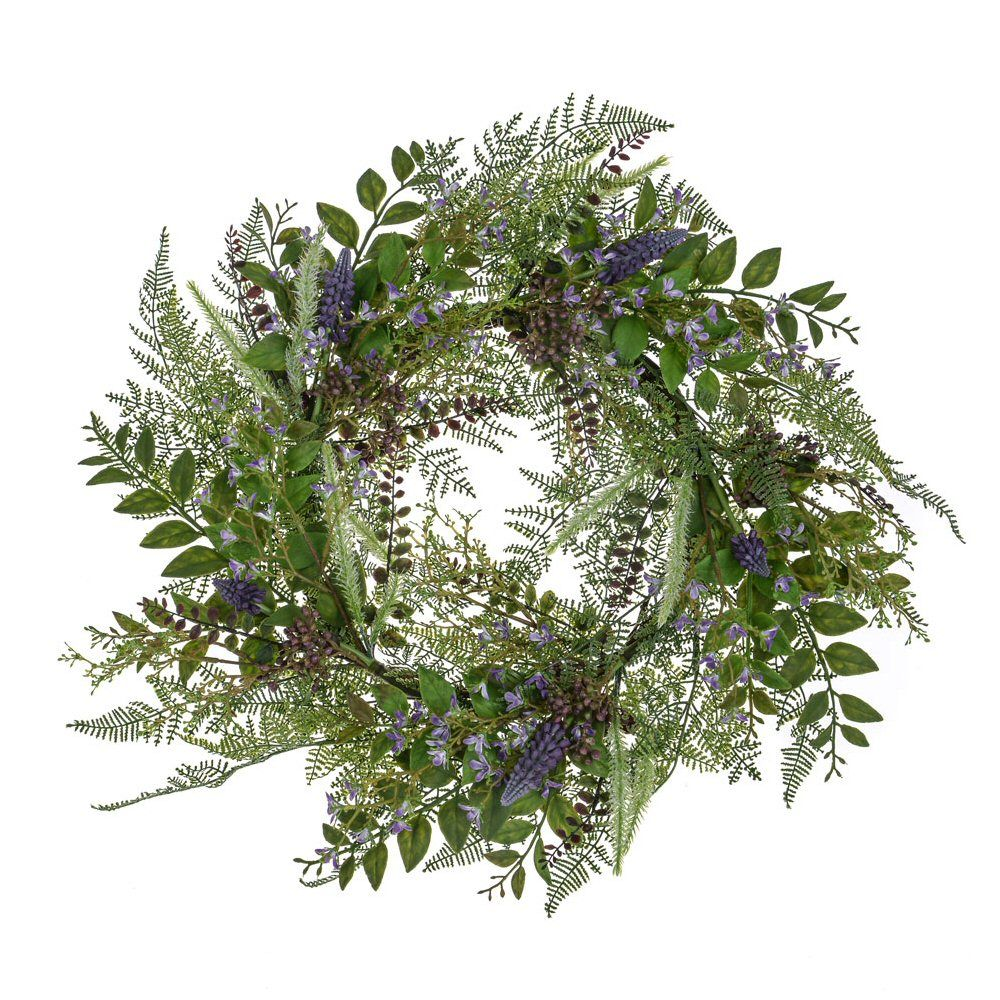 CB Imports 61cm Lilac Bloom Wreath