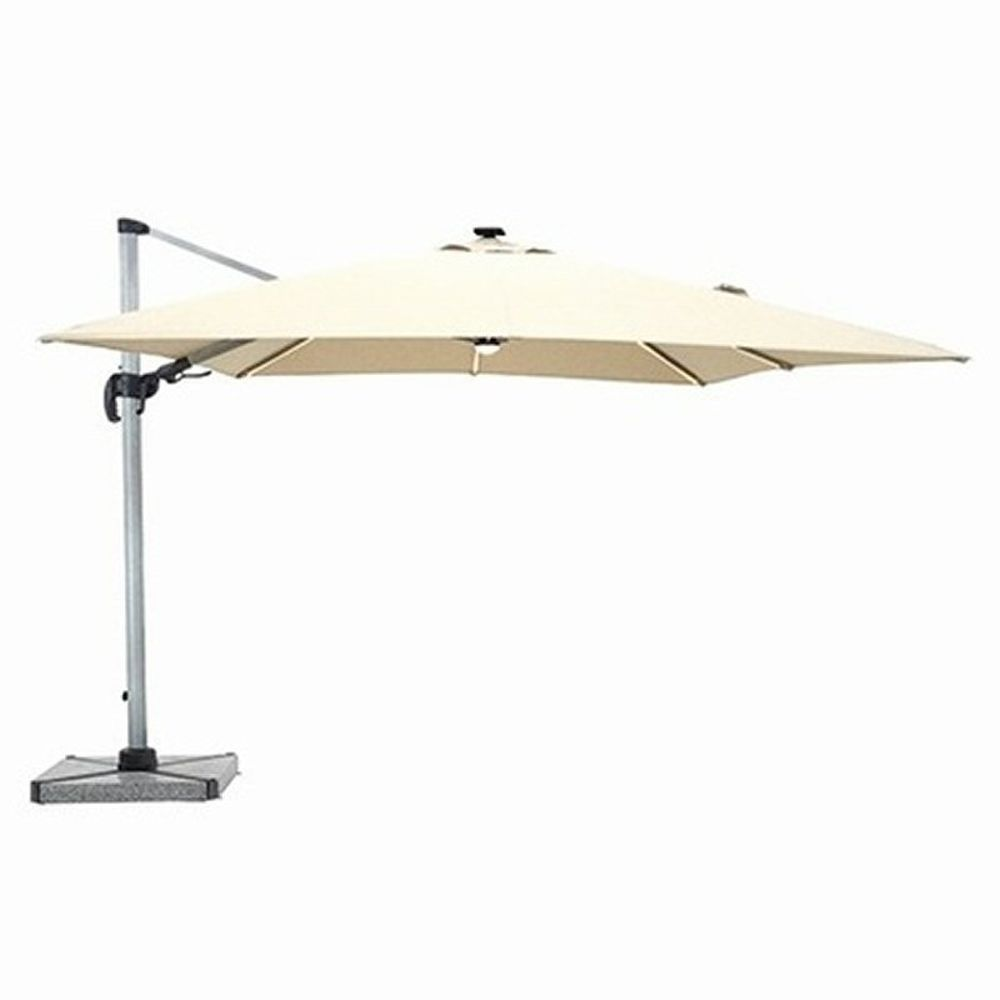 Bramblecrest 3m Sand Truro LED Parasol with Granite Base