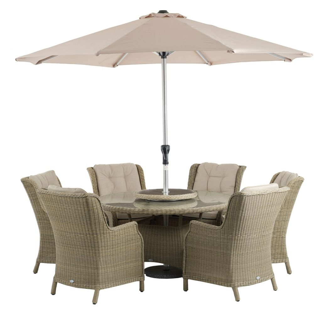 Bramblecrest Oakridge 6 Seater Highback Dining Suite