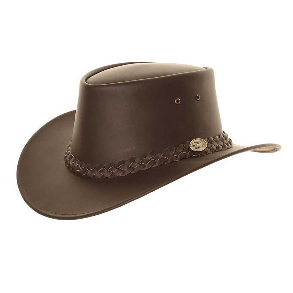 SSP Extra Large (60cm) Brown Leather Australian Style Hat