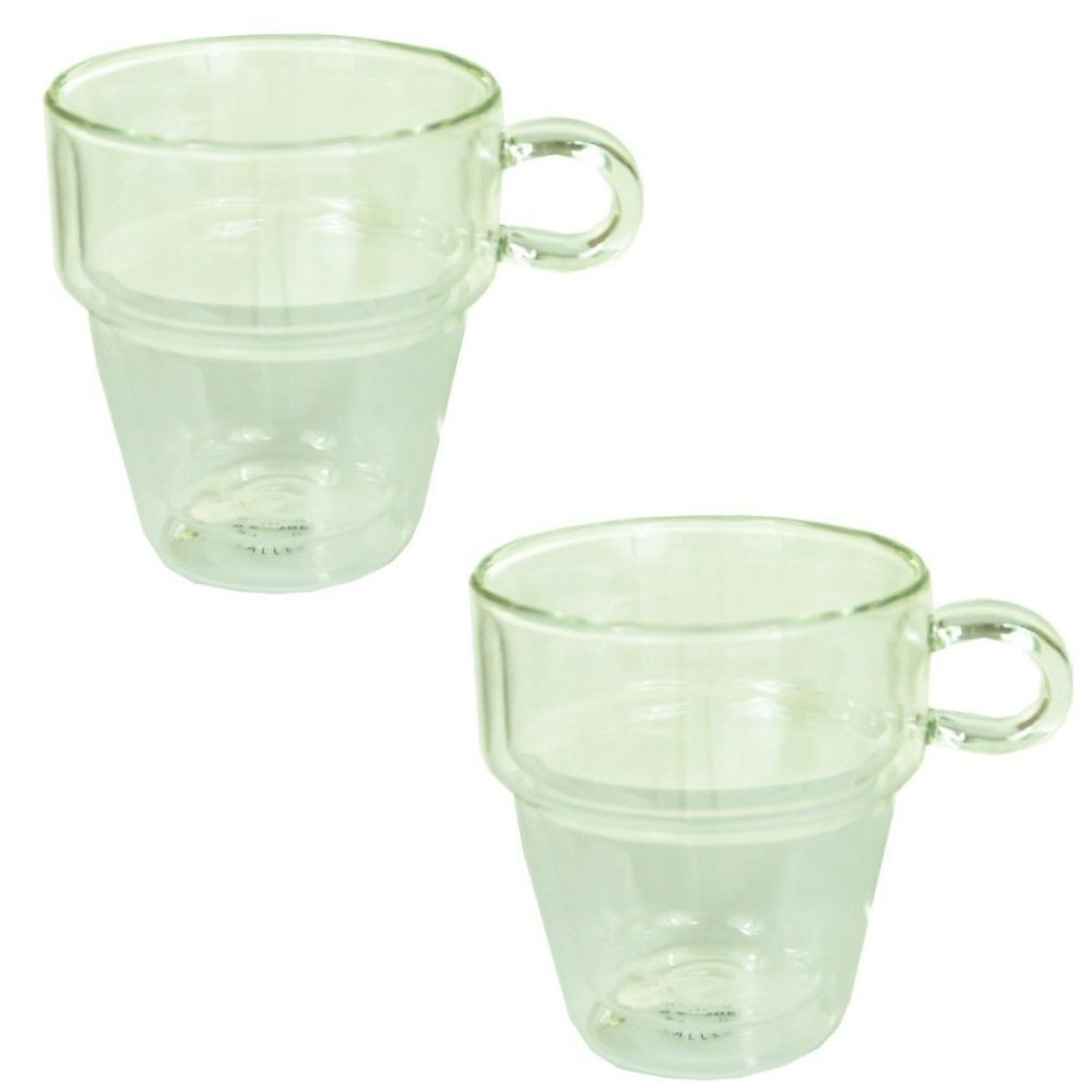 Judge Set of 2 250ml Double Walled Stackable Coffee Mugs