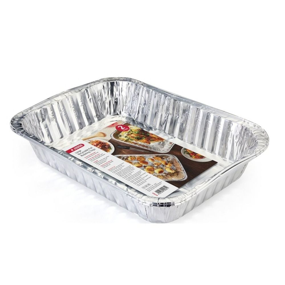 Judge Recyclable Large Foil Roasting Trays (Pack of 2)