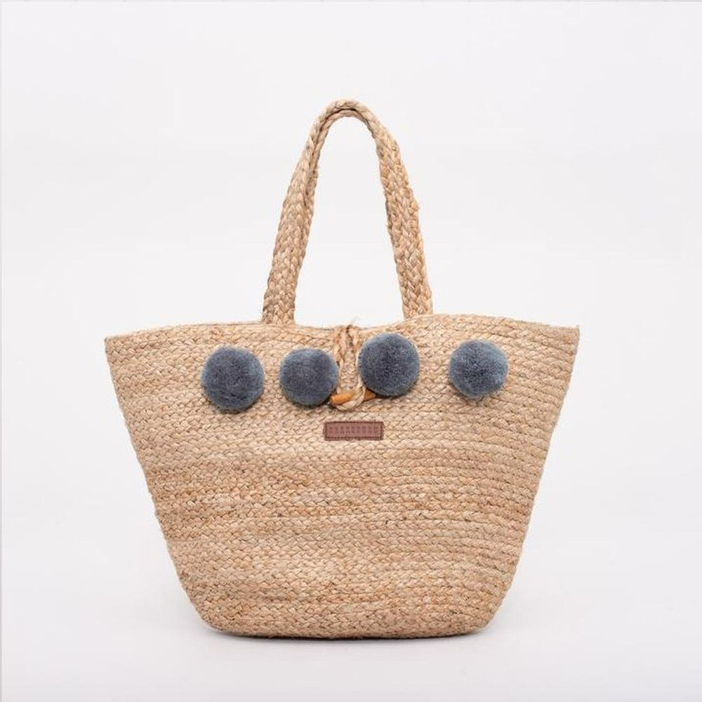 Brakeburn Tan Jute Beach Bag