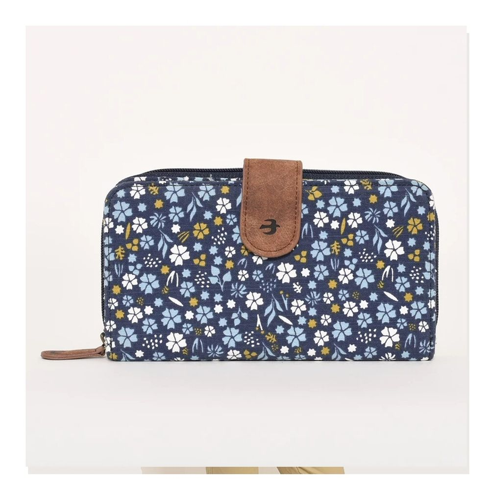 Brakeburn Navy Ditsy Fold Over Purse