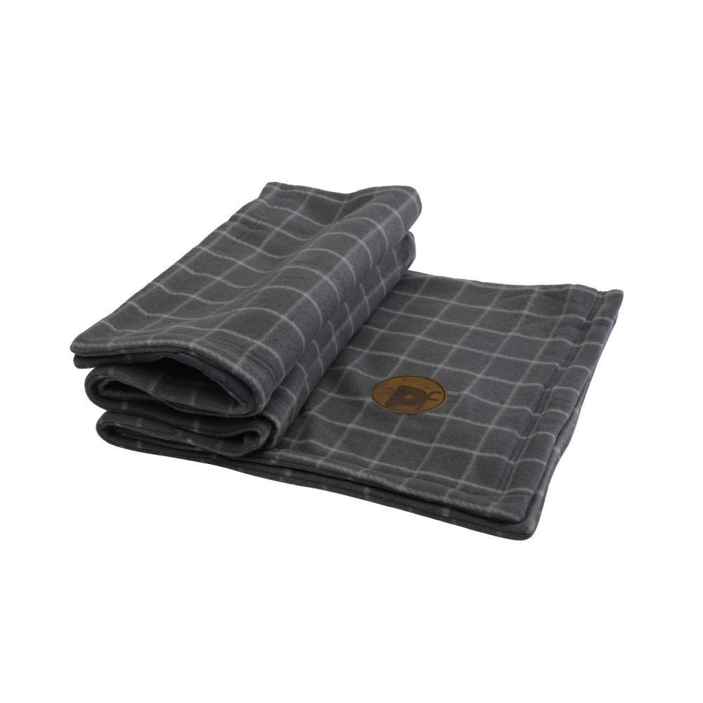 Petface 101cm Medium Grey Window Pane Dog Blanket