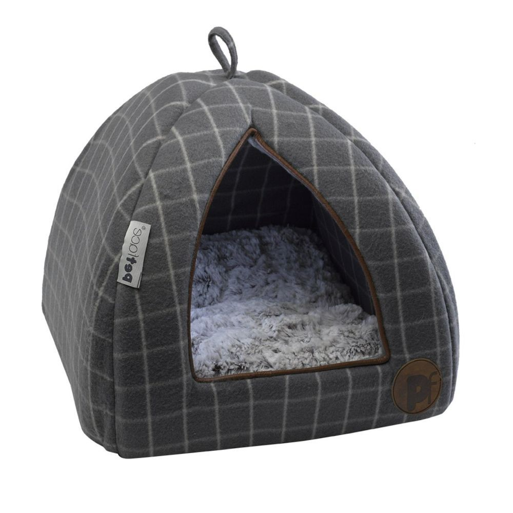 Petface 36cm Medium Grey Window Pane Dog Blanket