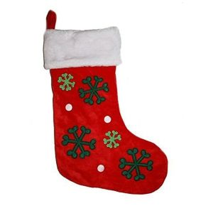 Petface 46cm Red Plush Christmas Stocking for Cats & Dogs