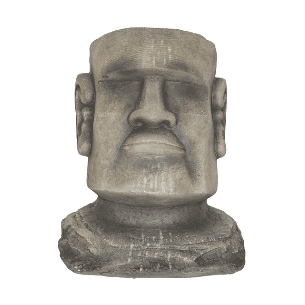 La Hacienda 34cm Resin Easter Island Head Planter