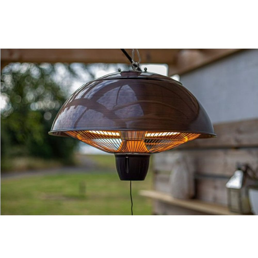 La Hacienda Copper Hanging Mushroom Electric Heater