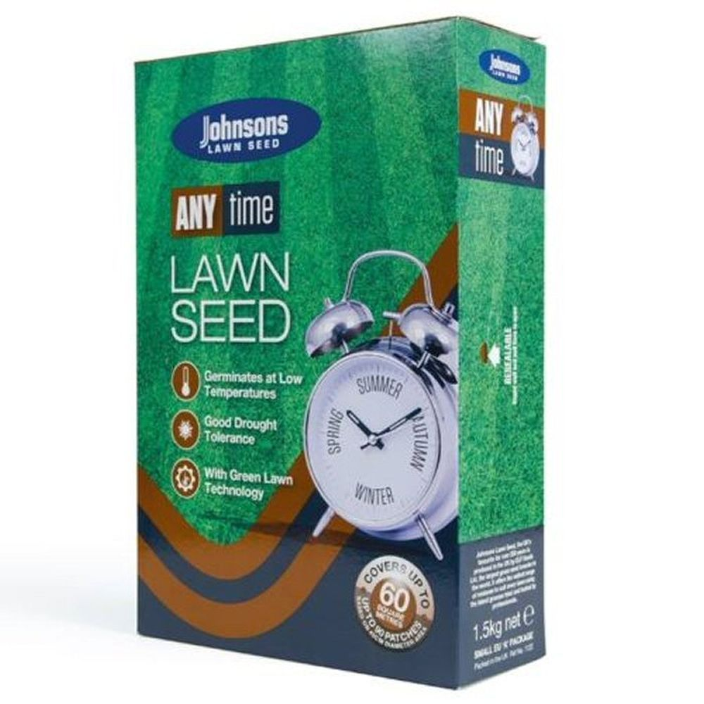 Johnsons 1.5kg Any Time Lawn Seed