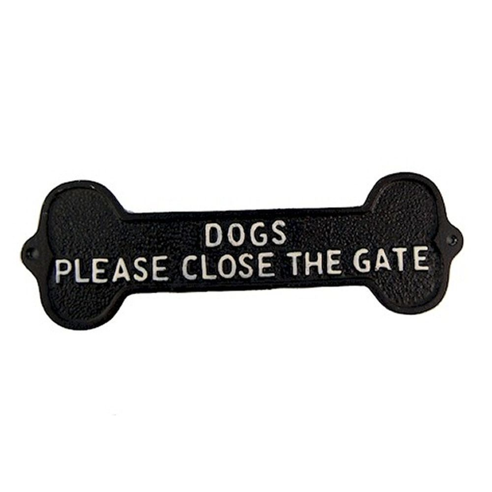 Ascalon Please Close The Gate Dogs Sign