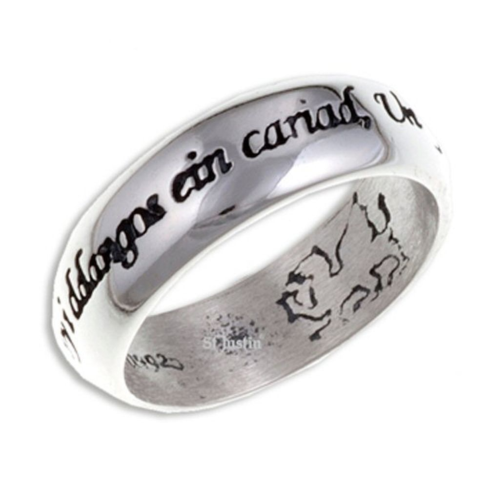 St Justin 55mm Welsh Love Ring - SR923.55