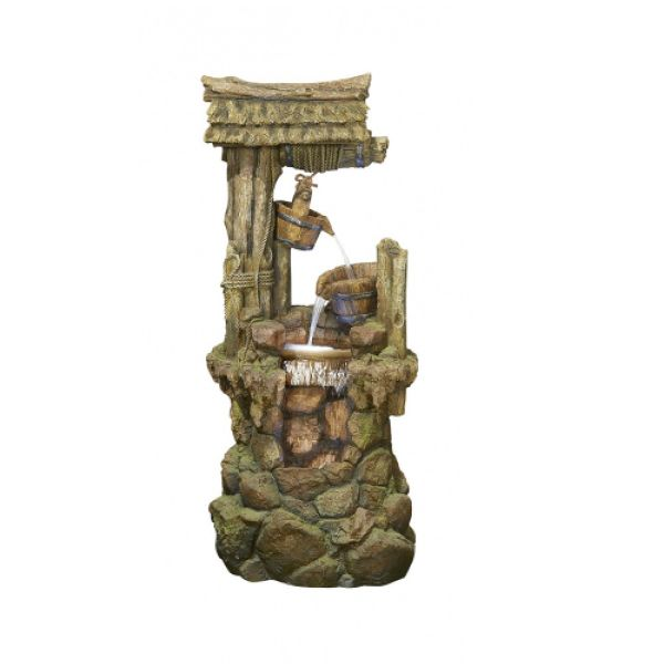 Kelkay 1.5m Wishing Well Heights with LEDs Water Fountain - 45169L