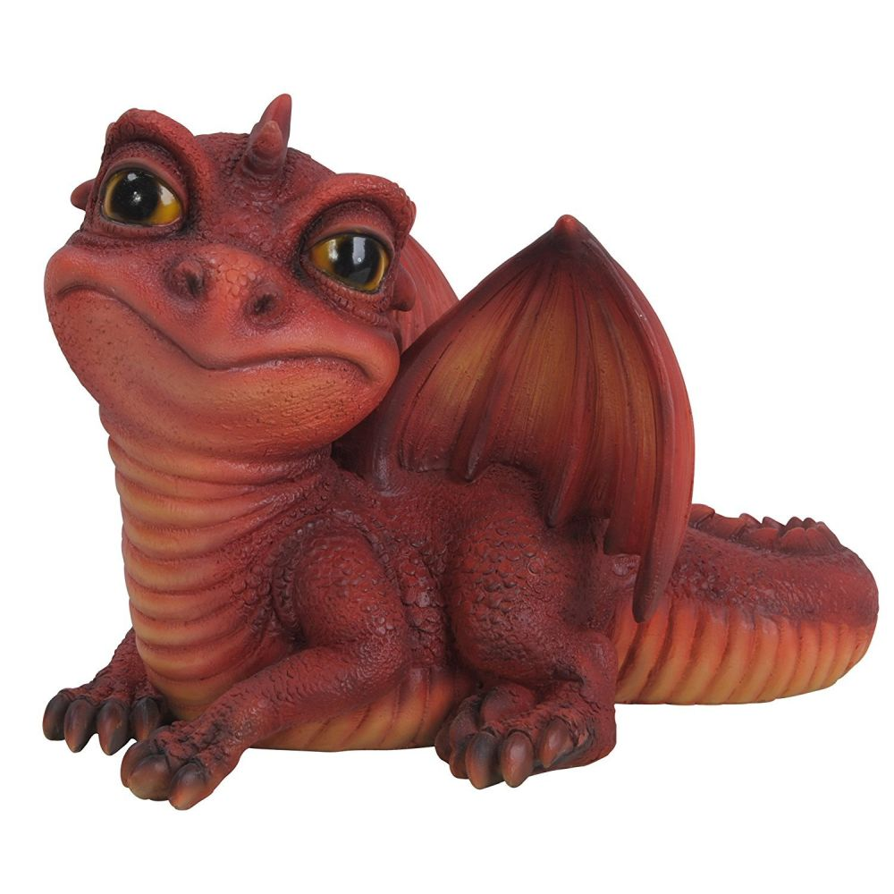 Vivid Arts 13cm Yellow/Red Baby Dragon Pet Pals Resin Ornament  - PP-D