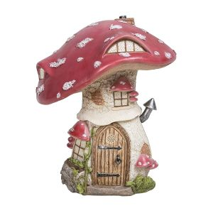Vivid Arts Miniature World 19cm Red Toadstool Cottage Ornament
