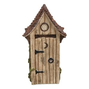 Vivid Arts Miniature World 10cm Lime Wash Out House Ornament