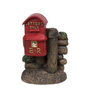 Vivid Arts Miniature World 4.8cm Traditional Red Post Box Ornament
