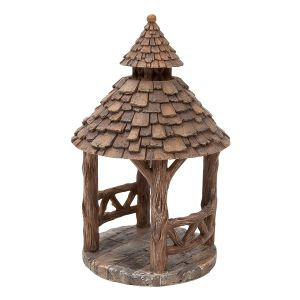 Vivid Arts Miniature World 14cm Wooden Gazebo Ornament