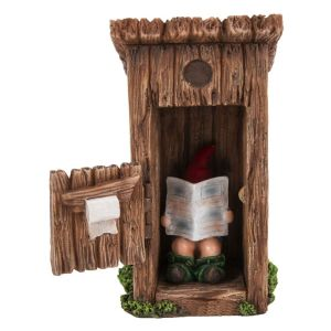Vivid Arts Miniature World 9cm Gnome Outhouse Ornament