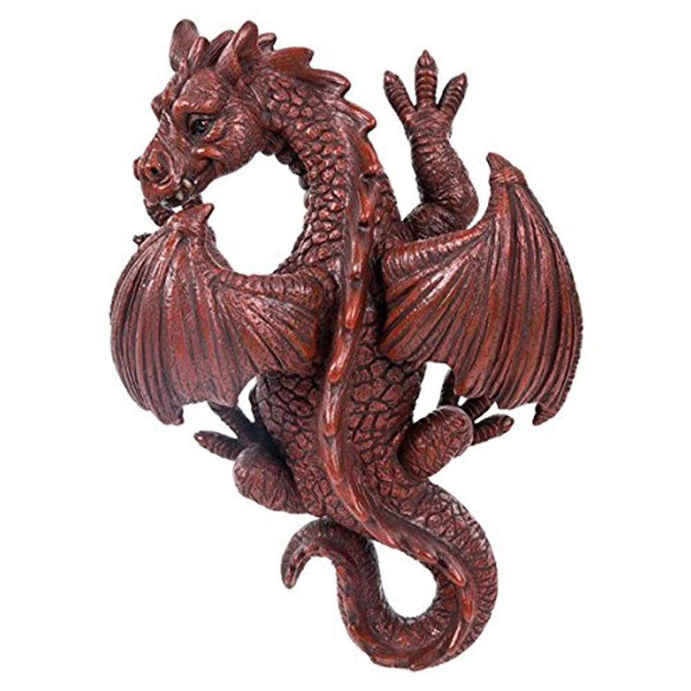 Vivid Arts 24cm Wall Hanging Red Dragon Resin Ornament
