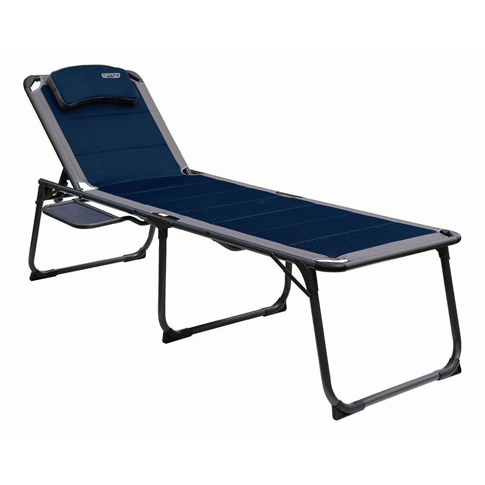 Quest Leisure Ragley Pro 200cm Blue Lounge with Side Table