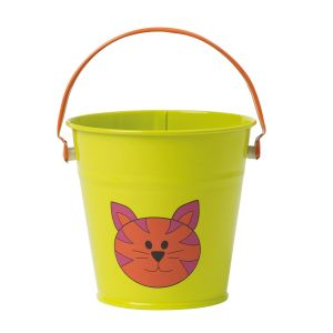Briers Kids 11cm Small Metal Farmyard Bucket (Assorted Colours)