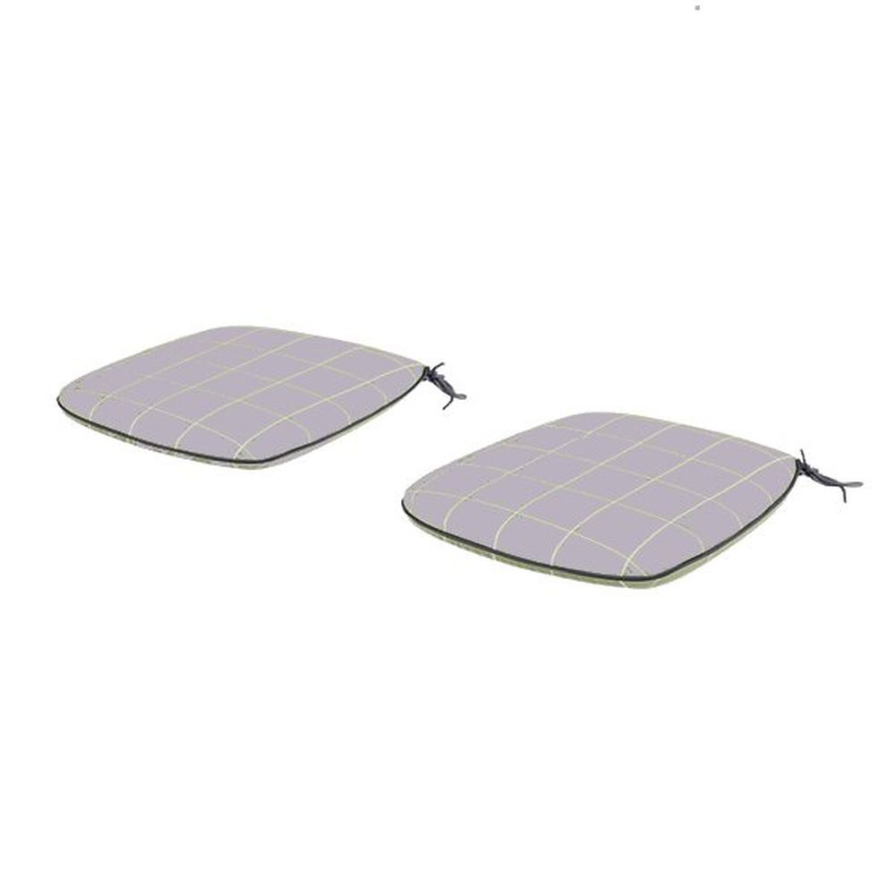 Kettler Wisteria Checkered Caffe Roma Seat Pads (1 Pair)
