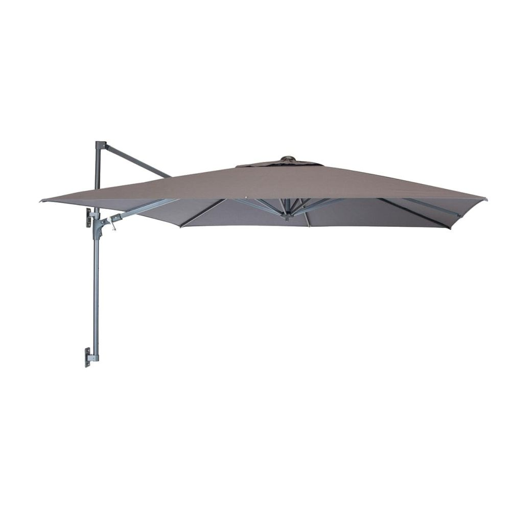 Kettler 2.5m Taupe Wall Mounted Free Arm Parasol