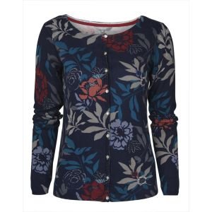Lily & Me Navy Ornate Floral Kemble Occasion Cardigan - Size 10