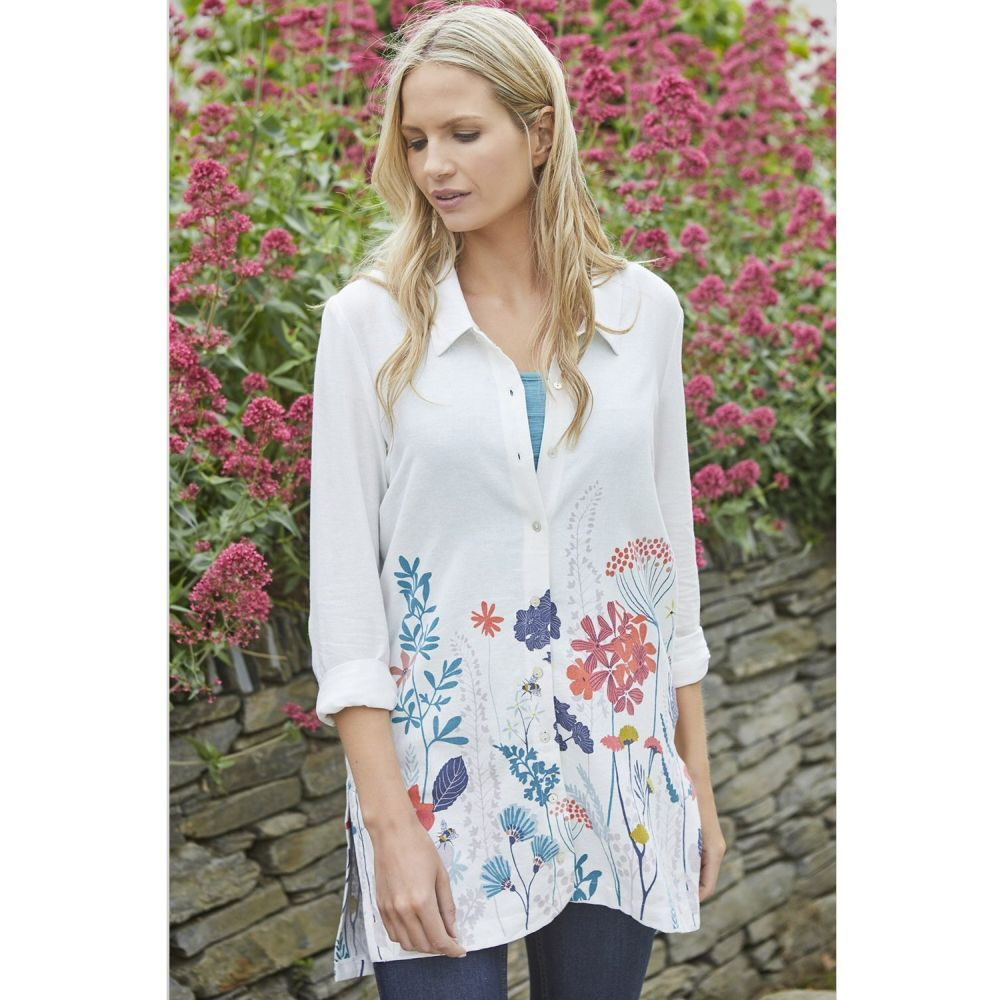 Lily & Me Stone Floral Border Shirt
