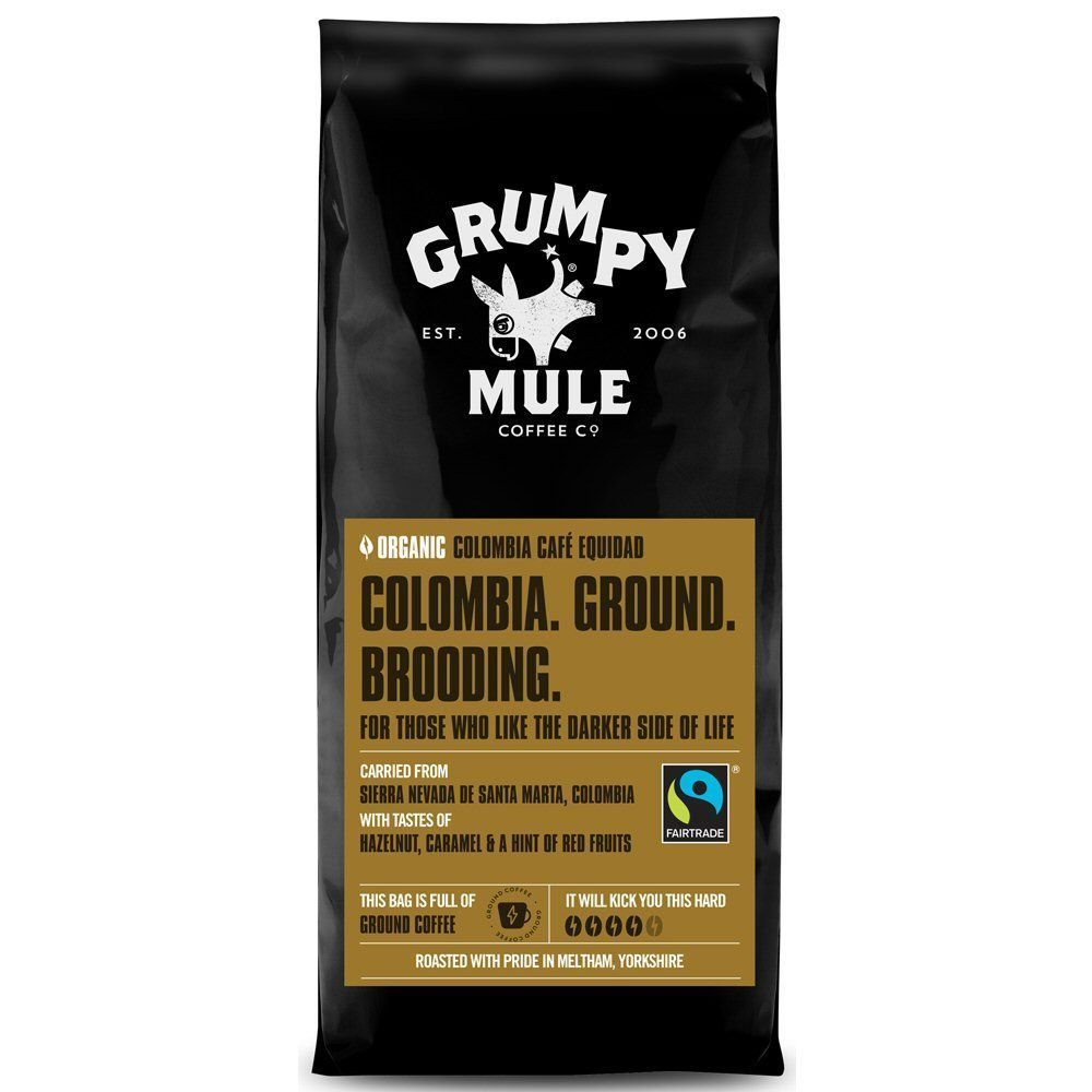 Grumpy Mule 227g Organic Fairtrade Colombia Ground Coffee