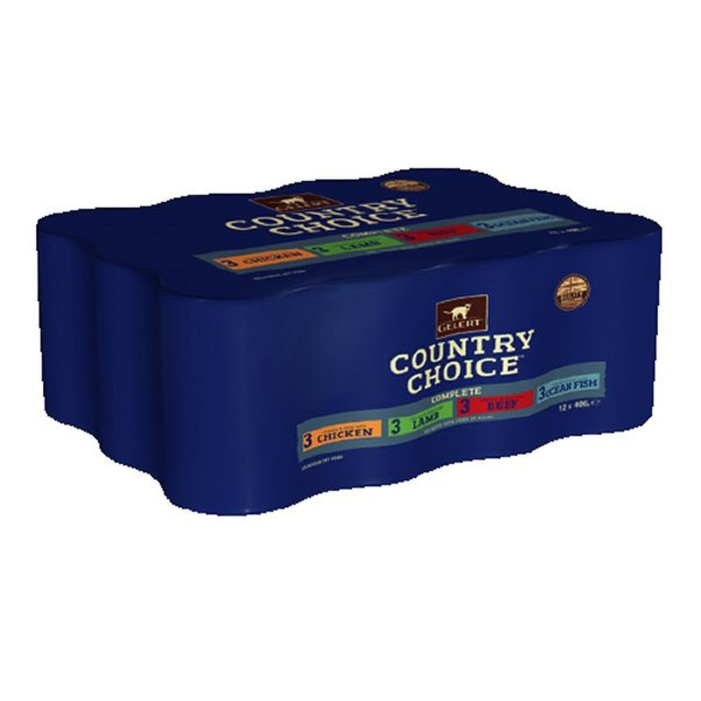 Gelert Pack of 12 x 400g Country Choice Cat Food in Jelly