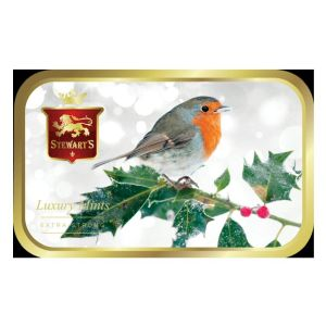 Stewarts 40g Mints in Robin on Holly Tin